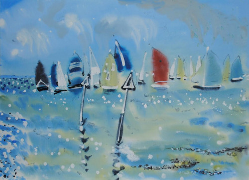 'Racing at Cowes'