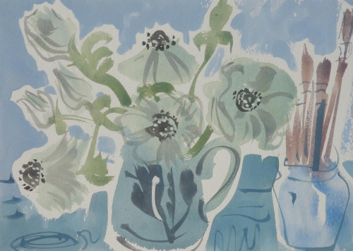 Anemones and paint brushes