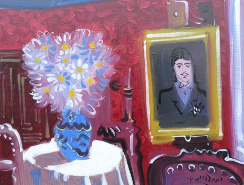 Portrait of Marcel Proust at La Maison de Tante Leonie, huile sur toile, 60cm x 80cm