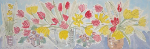 Tulips and primulas