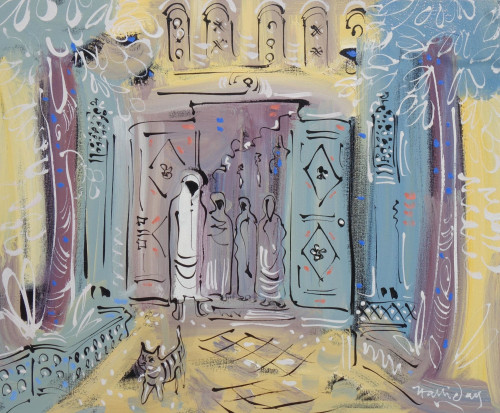 Alan Halliday, Marrakesh, oil on canvas, 50cm x 60cm. 2018