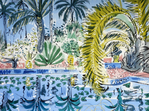'Date palm and reflecting pool'