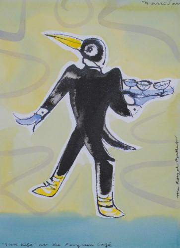 Penguin Waiter II from ' Still Life at the Penguin Cafe