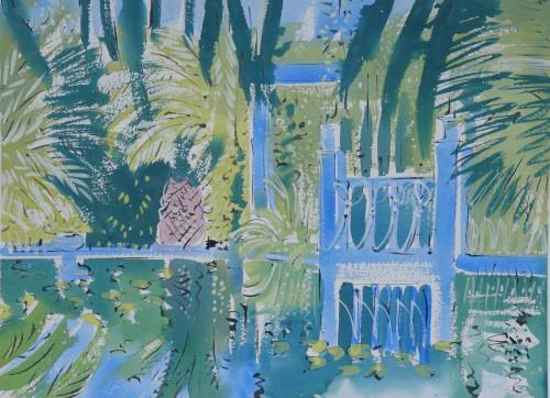 Yves Saint Laurent's garden in Marrakech, The Reflecting Pool