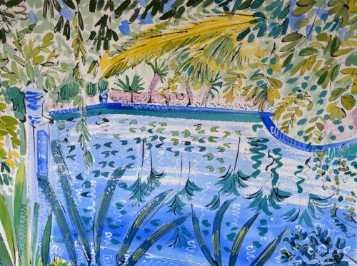 Jardin Majorelle. Reflecting pool.