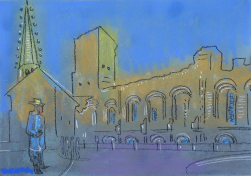 Van Gogh at Arles, pastel on paper,