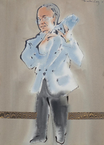 Staff at the Savoy Hotel 2003, two paintings from the American Bar