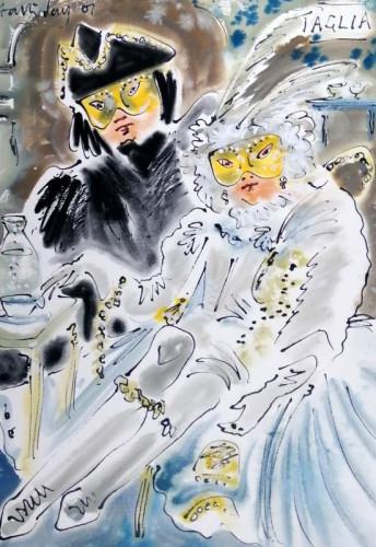 In costume at Carnevale di Venezia III