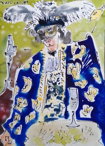 In costume at Carnevale di Venezia XIV