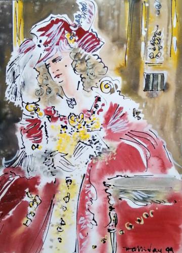 In costume at Carnevale di Venezia XV