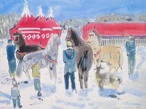 Travelling Circus in Winter I
