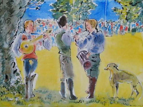 Musicians at Goodwood Cricket