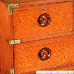 Small Teak Antique Military Campaign Chest