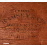 Secretaire Antique Campaign Chest by Ramsey