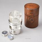 Leather Cased Silver Brandy Warmer