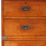 Mahogany Antique Campaign Chest by SW Silver