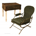 Antique Portable Reclining Chair by Ross & Co.