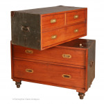 Antique Packing Case Campaign Chest by SW Silver