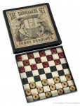 The Travellers Set of Ivory Draughts.