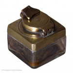 Brass Topped Travel Inkwell
