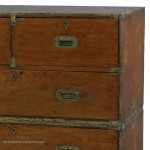 Small Antique Campaign Chest of Drawers