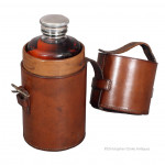 Drew Flask in Leather Case