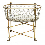 Brass Portable Cot By Hoskins