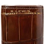 Crocodile Cigar Case By R. Lewis