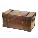 Large Leather Trunk by Allen
