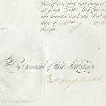 William Hay's Indenture for HMS Alarm