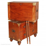 Anglo Indian Antique Campaign Chest with Table