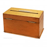 Oak Desk Letter Box