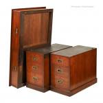 Antique Portable Pedestal Writing Table