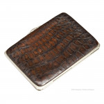 Silver And Crocodile Wallet