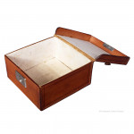 Square Antique Leather Storage Box