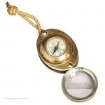 Compass With Folding Magnifying Glass