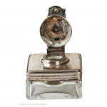Silver Plated Travel Inkwell