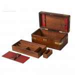 Brass Bound Antique Campaign Box
