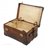 Leather Trunk by Drew & Sons