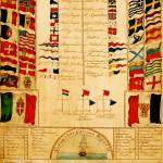 Gibraltar Garrison Signal Flags Water Colour