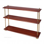 Teak and Brass Campaign Shelves