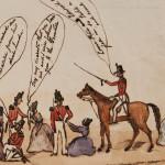 Departure Of The 6th Regiment Watercolour