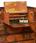 Secretaire Antique Campaign Chest by Hill & Millard