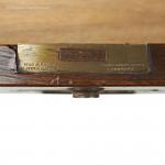 Walnut Antique Campaign Chest by Hill & Millard