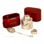 Leuchars Silver Travel Tea Caddy & Diffuser