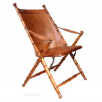 Antique Faux Bamboo Folding Chair