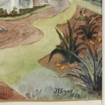 """Watercolour of """"Our"""" House At St. Thomas' Mount"""