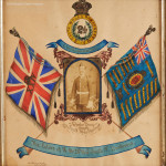 The Colors Of H.M. 24th South W. Borderers  Watercolour & Photograph