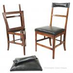 Set of 4 Mahogany Naval Chairs