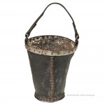 Leather Fire Bucket marked DT